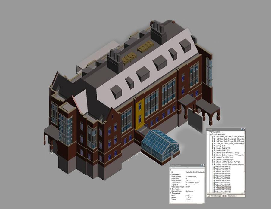 3D Model of a higher education building