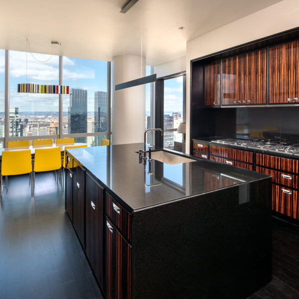 Penthouse kitchen with high-end finishes