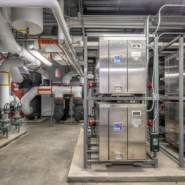 Large room with chiller and equipment