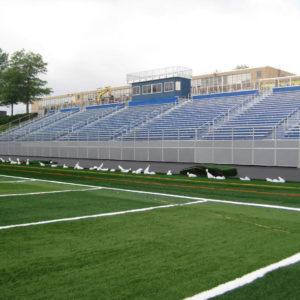 Football stadium grandstand