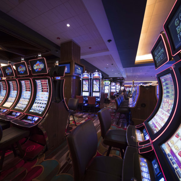 Gaming floor with slot machines