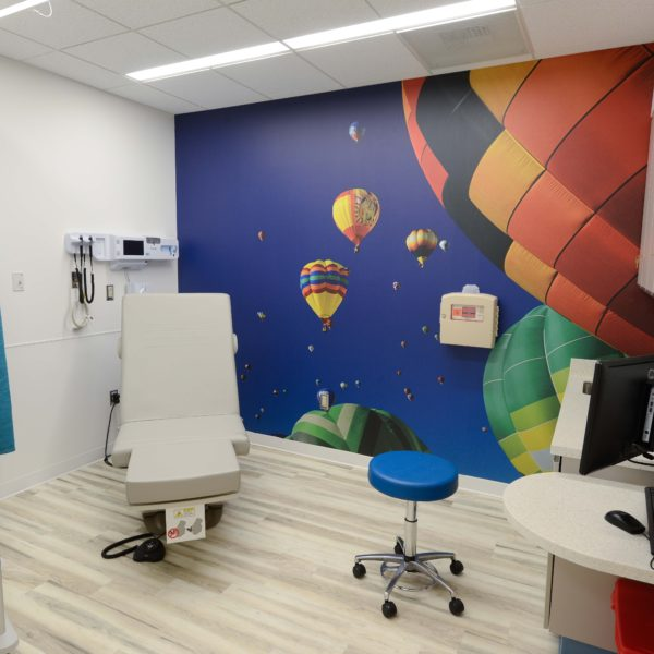 Medical exam room and equipment