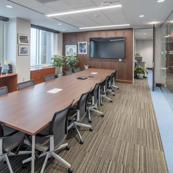 Large conference room with tables and chairs.