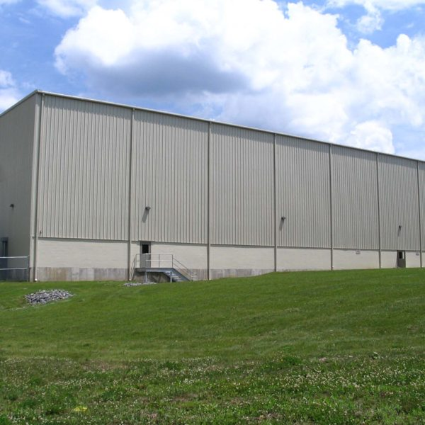 Exterior pre-engineered metal building