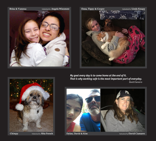 A collage of images of children and pets.