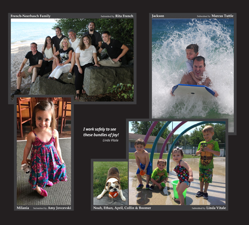 A collage of images of children and families.