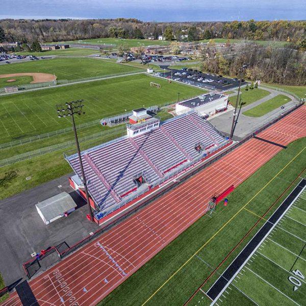 Aerial shot of grandstand