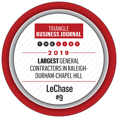 LeChase in top 10 of Triangle contractors | LeChase Construction