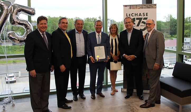 'LeChase Day' for company's 75th anniversary