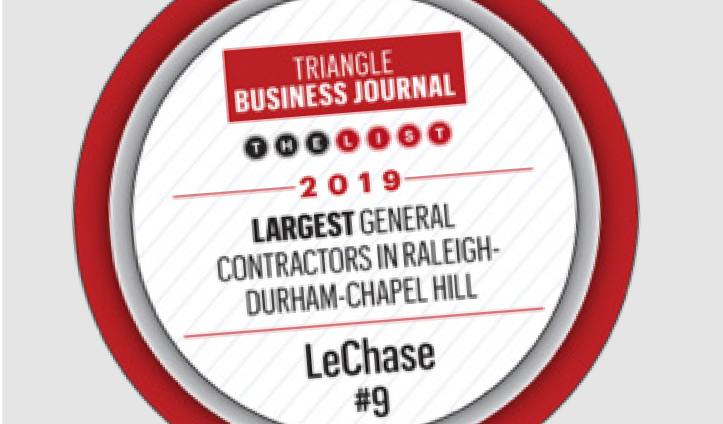 LeChase Top 10 of Triangle Contractors