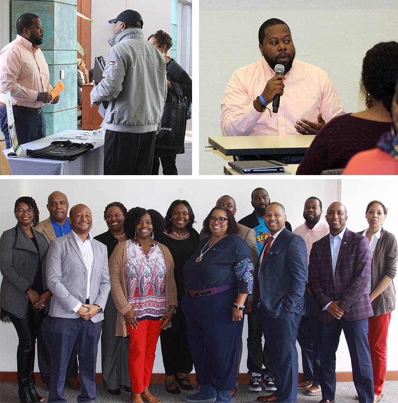 photos of Brandt Smith at the Contractors Empowerment event in Durham.