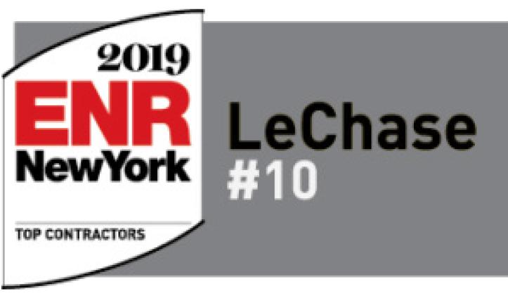 LeChase in Top 10 of New York Contractors