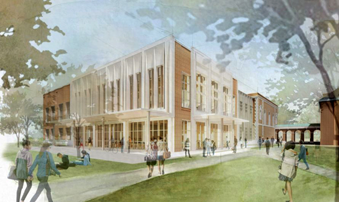 Rendering of Lilly Library