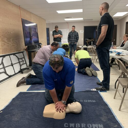 Armonk team CPR Training