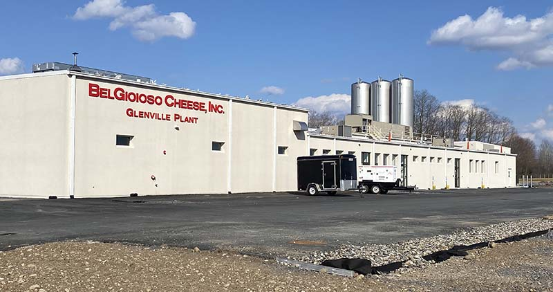 Exterior view of BelGioioso Cheese factory in Glenville, NY