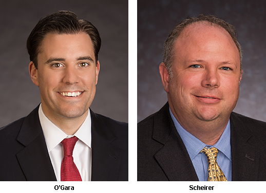 headshot photos of new LeChase vice presidents, Tom O'Gara and Jim Scheirer