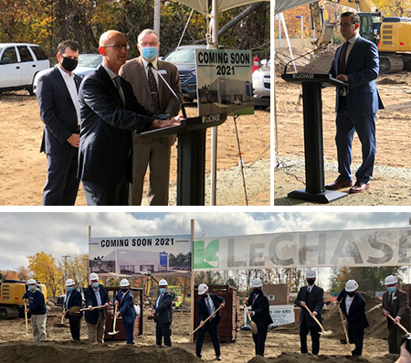 Images from the October 23, 2020 groundbreaking for Capital Luxury Cars' new Volvo dealership