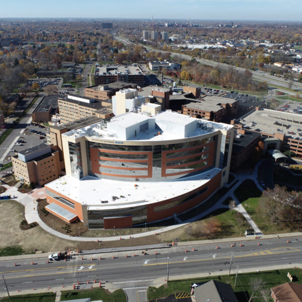 Rochester Regional Health - Center for Critical Care - Aerial