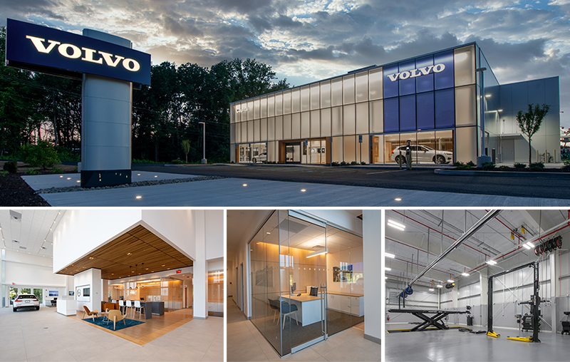 images of new Volvo dealership in Albany